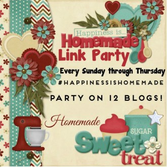 Welcome back to this week's Happiness is Homemade Linky Party!