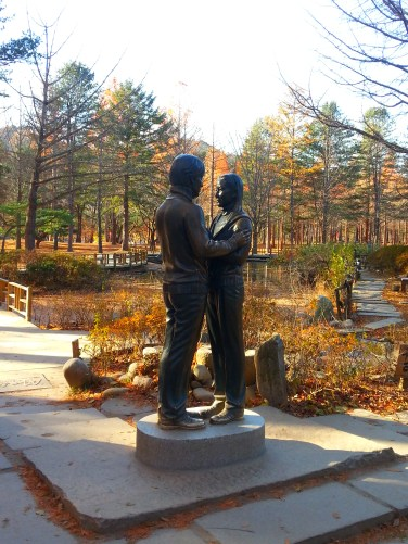 The famous Winter Sonata statue