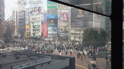 View of Shibuya Crossing that I took from Shibuya JR Yamanote line station.
