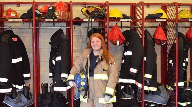 Student first female to pass Fire Academy test