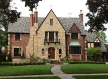 English Tudor Revival Style House