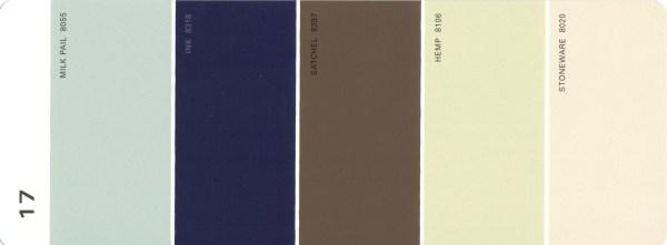 Martha Stewart Paint 5-Color Palette Card #17