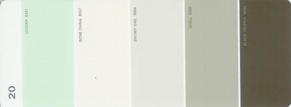Martha Stewart Paint 5-Color Palette Card #20