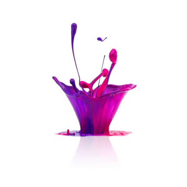 A abstract splash Colorful oil paint isolated on white background. Taken in Studio with a 5D mark III.
