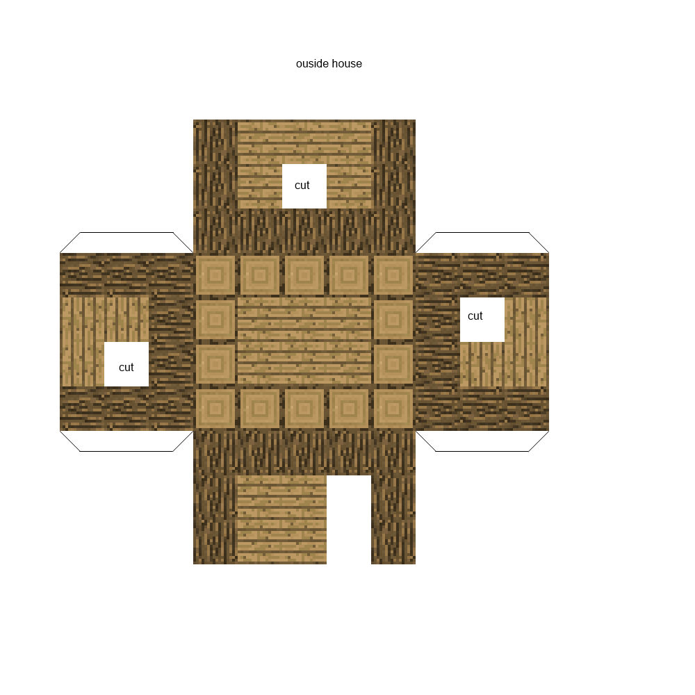 Minecraft Papercraft House Template