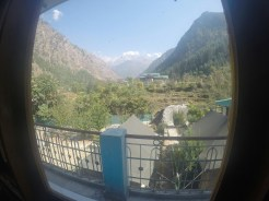 view from guesthouse in kasol