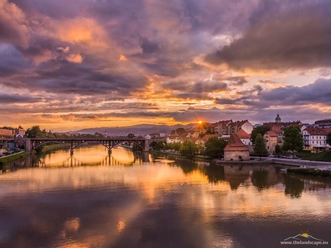 Maribor, sončni zahod