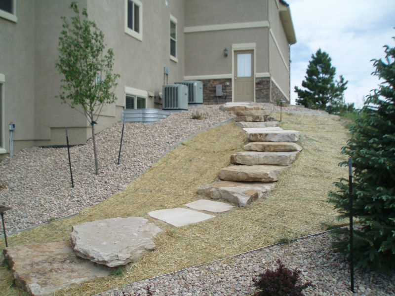 Denver Landscaping Stone Steps Walkways  Stairs