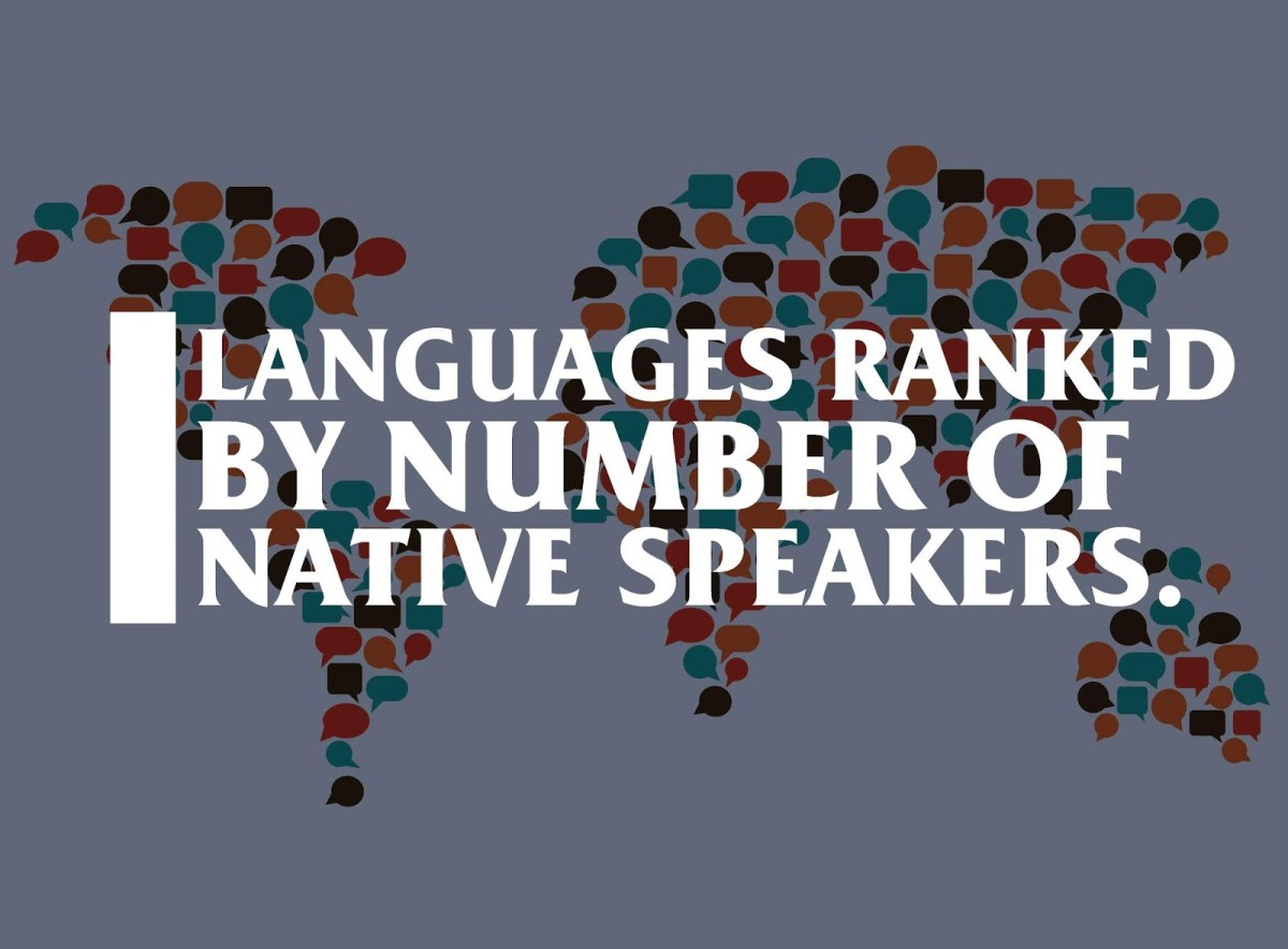 Languages with more than 30 million native speakers.