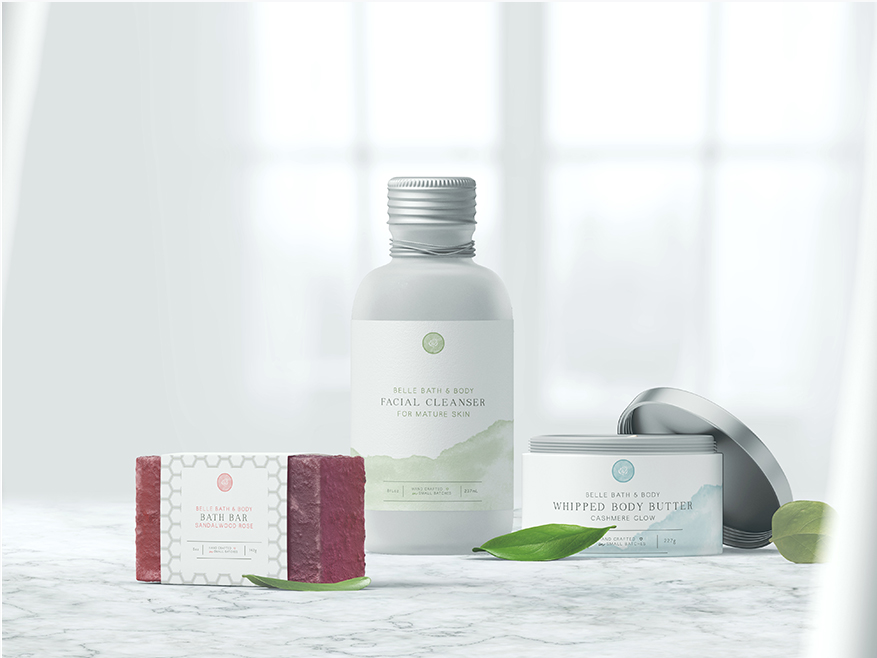 Portfolio | Belle Bath + Body Packaging Design | thelanguidlion.com