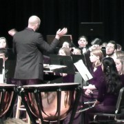 Wind Ensemble And Symphonic Band Stage Winter Concert
