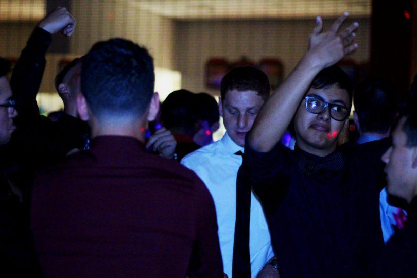 Students gather at the Sadie Hawkins dance. Photo by Karina Blodnieks