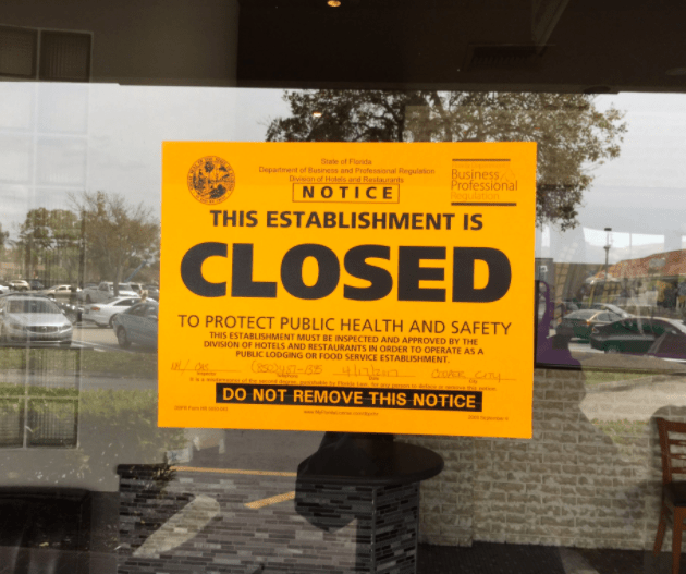 Fundraiser Cancelled after Restaurant Closes Over Health Violations