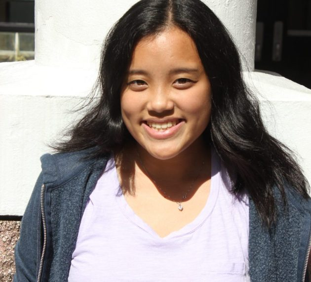 Freshman Sabrina Wong finds passion for Color Guard