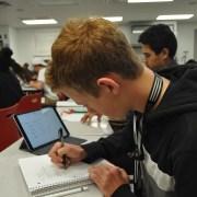 Testing the limits: Freshman Max Novak pursues an accelerated math program
