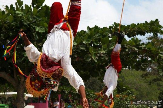 Los Voladores in Tulum, Mexico