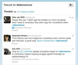 #idlenomore has taken Twitter by storm and is now internationally recognized.