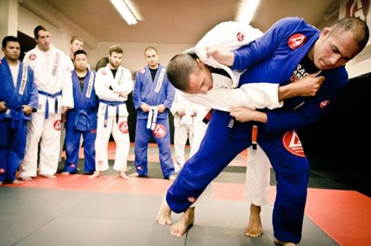 Students grapple at Gracie Barra Jiu-jitsu school. Brazilian Jiu-Jitsu is said to strike a balance between aggression and mutual respect. Photo courtesy of GB Vancouver