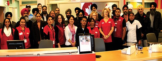 Blood donation by Sikh nation Campaign volunteers  at Surrey clinic with CBC staff. Photo courtesy of Sukhdeep Singh.