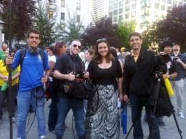 The film crew Ângelo Cardoso, Edward Bauman, Letícia Porto and Lucas Sócio | Photo: Luiza Libardi
