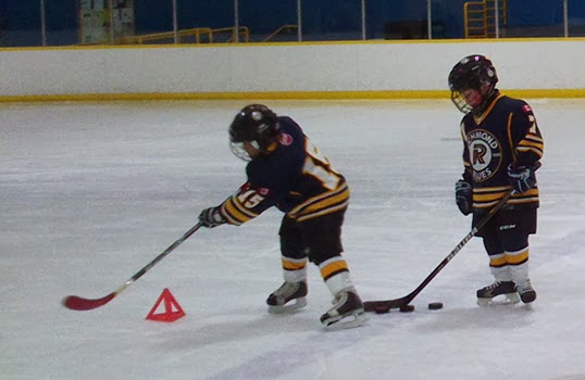 Developing puck control at the Richmond Minor Hockey Association. | Photo by Nikki Blackburn