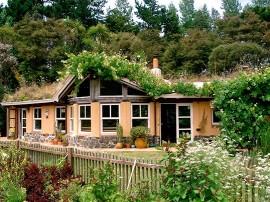 Passive solar design with turf roof.   Photo courtesy of Emily Wren Jubenvill