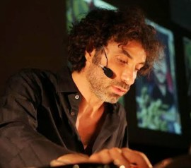 Artist Rabih Mroué – art and technology, guardians of history. | Photo by Houssam Mcheimech, courtesy of grunt gallery.