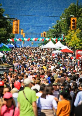Commercial Drive celebrates Italy.|Photo courtesy of Italian Day Festival