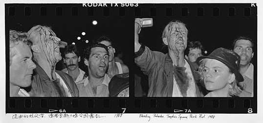 Bleeding Protestor. Tompkins Square Park Riots, 1988/2011 inkjet on paper.   Photo by Ai Weiwei, courtesy of Three Shadows Photography Art Center and Chambers Fine Art