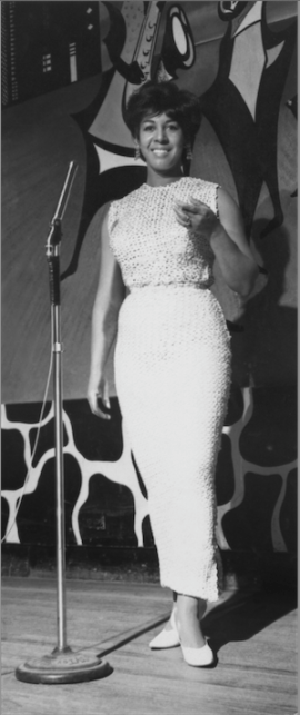 Singer and actress Thelma Gibson atthe Harlem Nocturne on East Hastings.