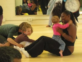 Group during Luna family dance class 2014. | Photo by Luna Dance Institute faculty