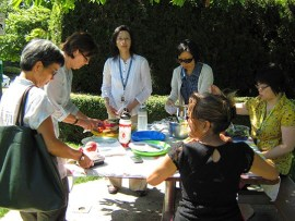 Healthy Living Program staff at a picnic event. | Photo courtesy of Healthy Living Program