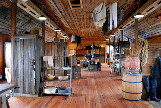 Re-creation of a worker's bunkhouse at Britannia Shipyards National Historic Site | Photo by Brooke Lees