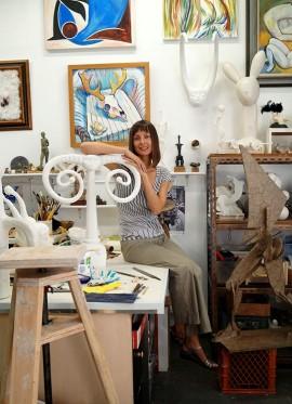 Anyuta Gusakova in studio.   Photo courtesy of Milos Tosic