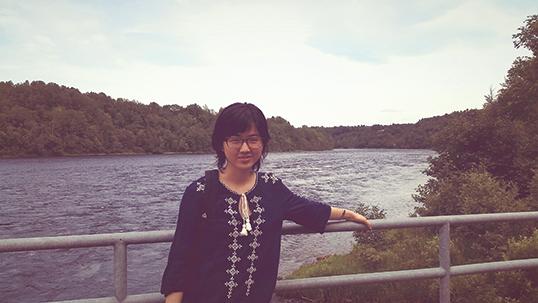 Danielle Tan in Trois-Rivières, Quebec.