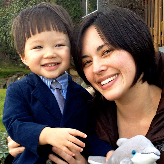 Sharon Chang, author of Raising Mixed Race, with her son.| Photo courtesy of Sharon Chang.