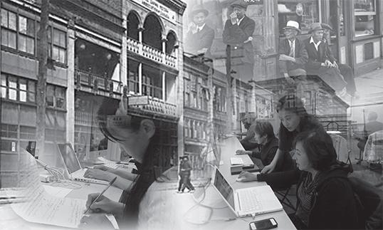 Working on digitizing stories. | Photo courtesy of Cinevolution Media Arts Society
