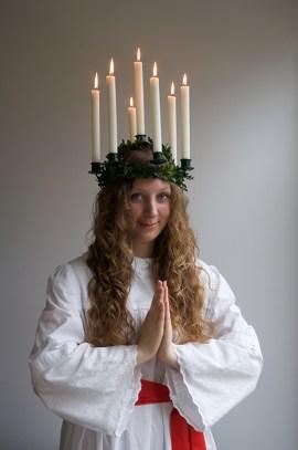 Linnea Petersson as Lucia.   Photo courtesy of Ellen Petersson