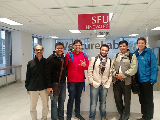 Lightmetric Team visiting Vancouver's VentureLabs | Photo courtesy of Krishna A.G.