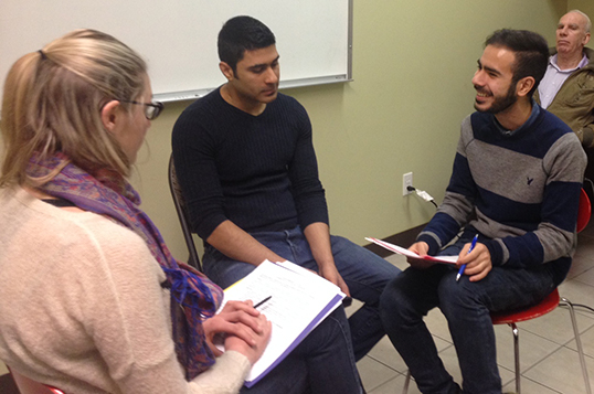 A mental health workshop aimed at preventing PTSD amongst newcomers | Photo courtesy of Ershad Fawcet