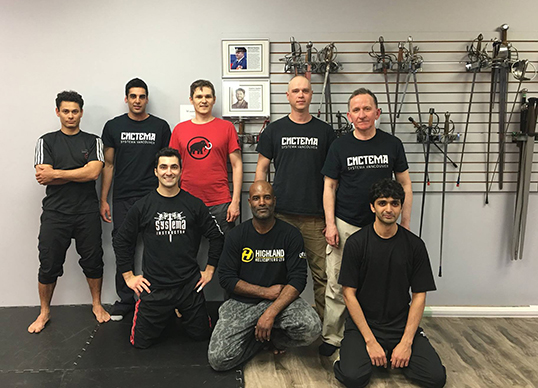 A class of Systema Vancouver students with instructor Cristian Isbasescu (front left).  | Photo courtesy of Systema Vancouver