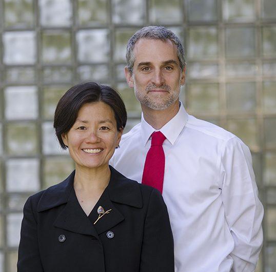 Helen Kiyoung Kim, associate professor of sociology. and Noah Samuel Leavitt, associate dean of students, Whitman College, Washington. |