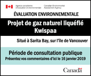 l'ACÉE pour le Projet de gaz ….Kwispaa