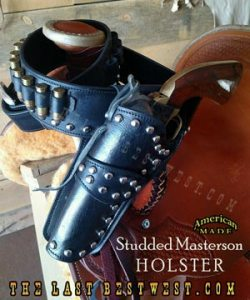 Studded Masterson Holster with matching cartridge Belt