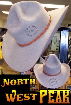 Northwest Peak Cowboy hat custom beaver fur felt