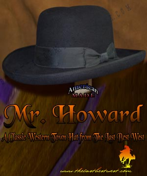Mister Howard Homburg Dress Hat