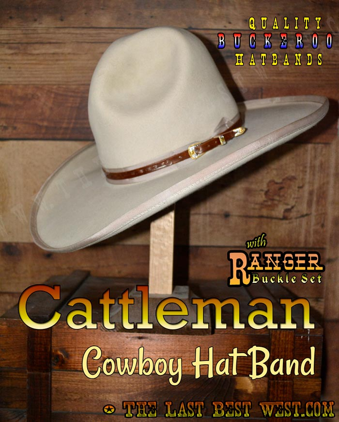 2a760b93639 Cattleman Cowboy Hatband - The Last Best West