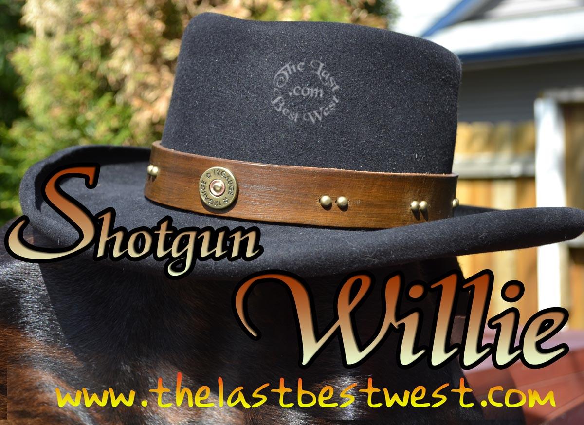 Shotgun Willie leather hat band