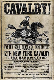 Poster for Cavalry Recruitment