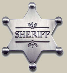 Old West Sheriff Badges